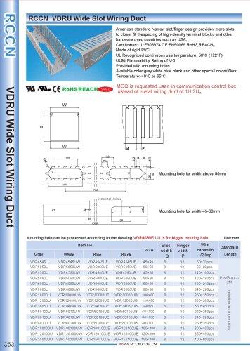 RCCN  VDRU Wide Slot Wiring Duct