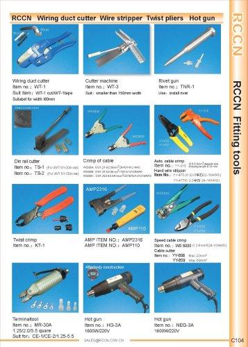 RCCN   Wiring duct cutter  Wire stripper  Twist pliers   Hot gun