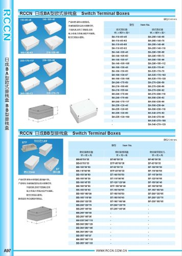 Switch Terminal Boxes