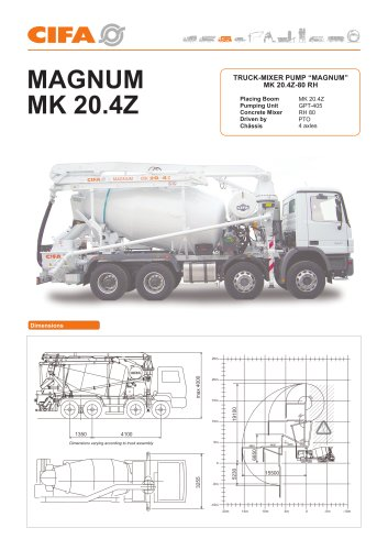 Truck Mixer Pumps, the range > MK 20.4 Z 80