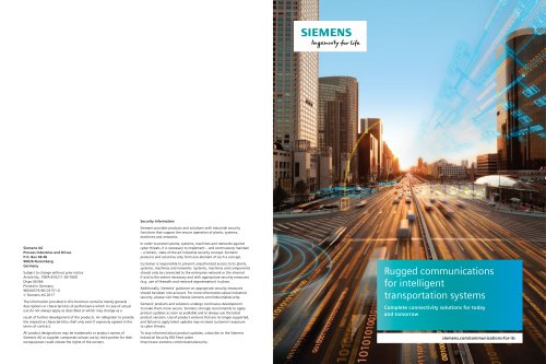 Rugged communications for intelligent transportation systems