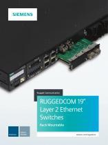 "RUGGEDCOM 19"" Layer 2 Ethernet Switches"