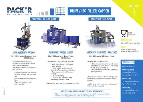 EDIBLE OILS DRUM / IBC FILLER CAPPER