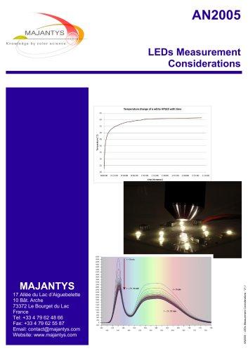 LEDs Measurement Considerations