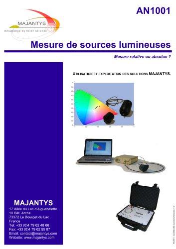 Mesure de sources lumineuses