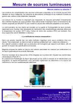 Mesure de sources lumineuses - 3