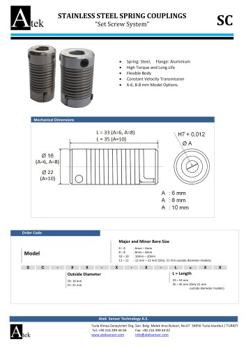 STAINLESS STEEL SPRING COUPLINGS SC