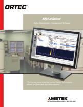 AlphaVision Alpha Spectroscopy Data Management and Analysis