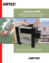 Detective-200 Ultra-High-Sensitivity, Ruggedized, Transportable HPGe Radioisotope Identification System