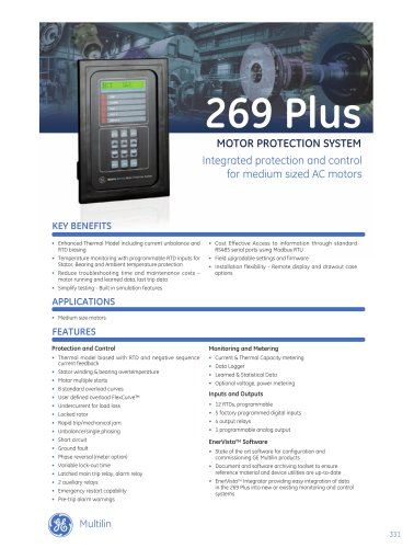 269 Plus Motor Protection System