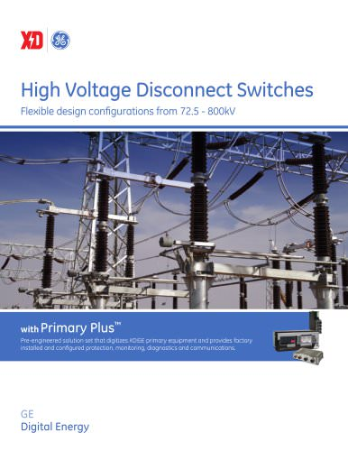 High Voltage Disconnect Switches Brochure