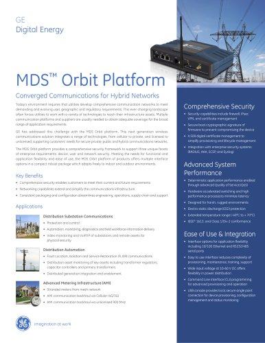 MDS Orbit Platform Brochure