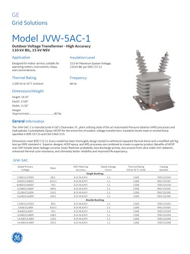 Model JVW-5AC-1