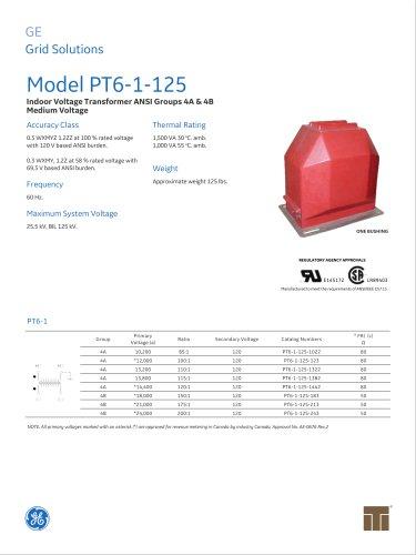 Model PT6-1-125