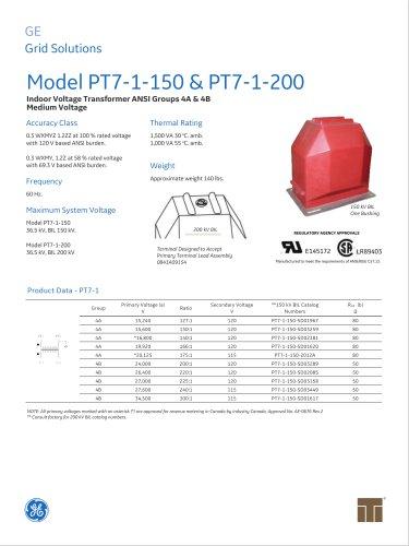 Model PT7-1-150 & PT7-1-200