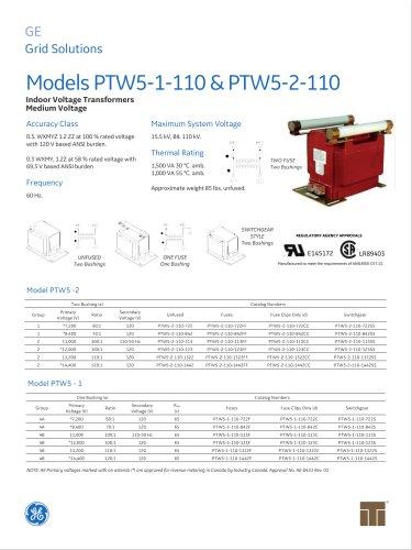 Models PTW5-1-110&PTW5-2-110