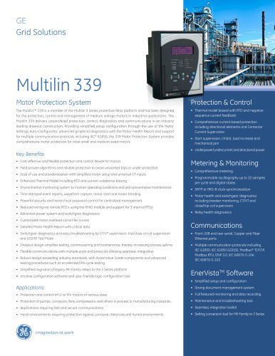 Multilin 339 Motor protection system
