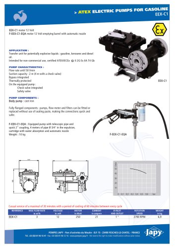 ATEX electric pump 12V gasoline: EEX-C1
