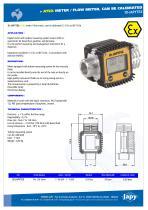 ATEX meter, flow meter: ID-JAPYTEX