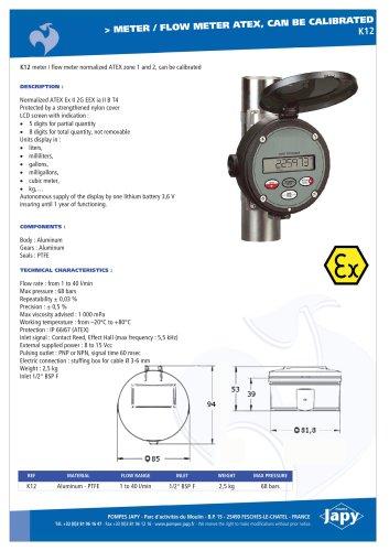 ATEX meter, flow meter: K12