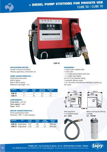 Diesel pump stations: CUBE50 - CUBE70