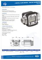 Digital flow meter: K24-ALU