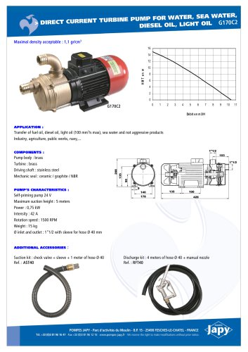 Direct current turbine pump: G170C2