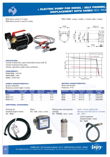 Electric pump diesel 12-24V: FEC5 - FEC6