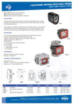 Electronic pulse meters with oval gears: K200 - K400 - K603 - K603H - K604