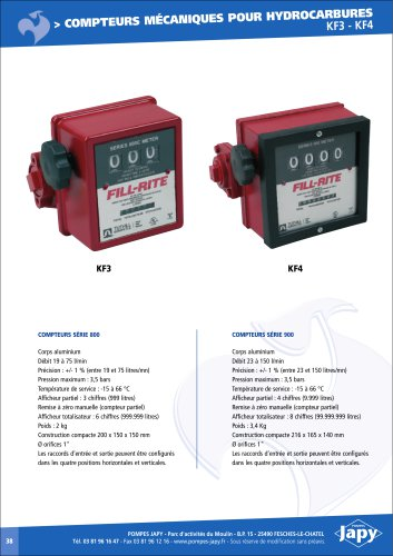 mechanical meters for hydrocarbons
