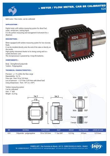 Meter, flow meter : K24