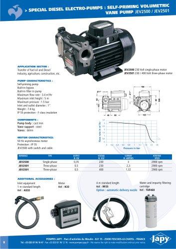 Special diesel electro pump: JEV2500 - JEV2501