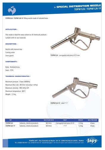 Special distribution gun: TOPW1LN - TOPW1LN-1F
