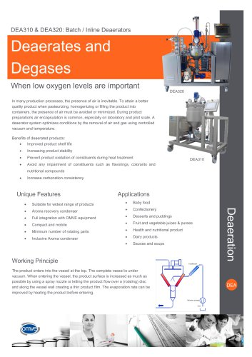 DEA range Batch and Inline Deaerator