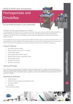HP202 & HP203 Inline Lab & Pilot Homogenisers