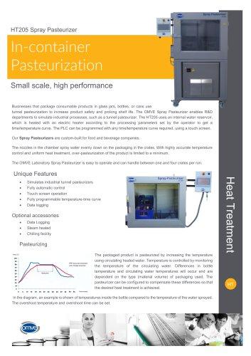 HT205 Spray Pasteurizer