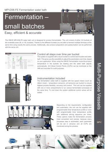 MPV206-FE Water bath fermentation unit