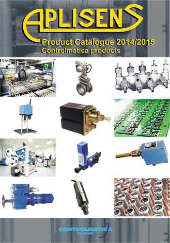 PRODUCT CATALOGUE CONTROLMATICA PRODUCTS