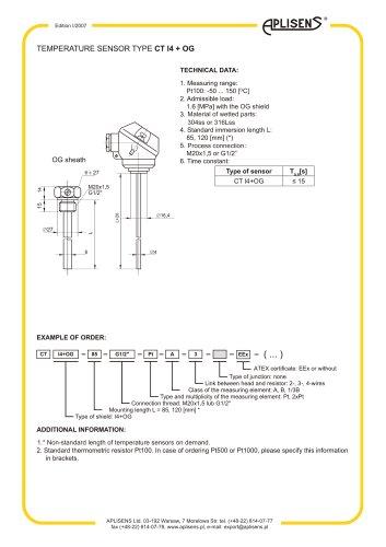temperature sensore and transmitters