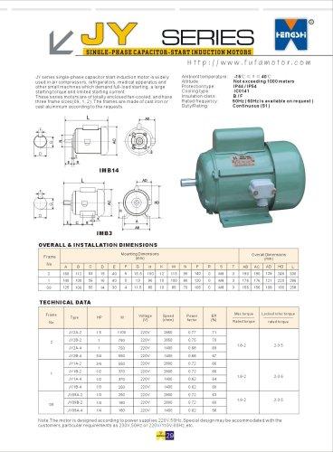 JY series single-phase capacitor-start induction motors