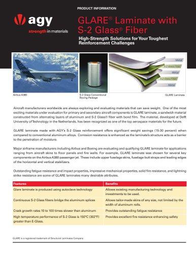 GLARE® Laminate with S-2 Glass® Fiber