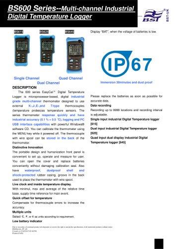 BS600 Series--Multi-channel Industrial Digital Temperature Logger