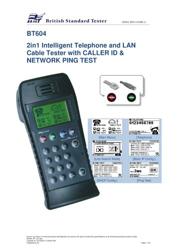 BT604-LAN Cable / Wire Tester