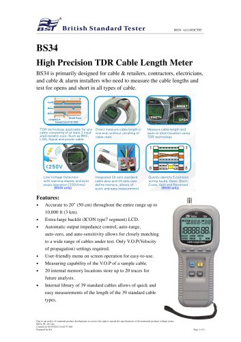 Cable Length Meter BS34