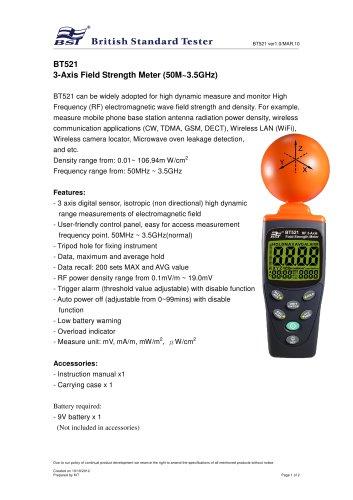 Field Strength Meter BT521