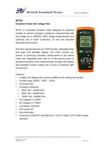 Insulation Tester BT751