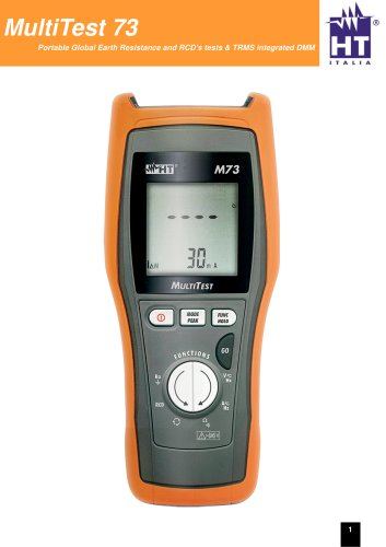 Multifunction Tester for Safety Tests and Power Analysis M73