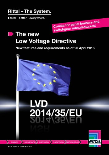 The new Low Voltage Directive LVD 2014/35/EU