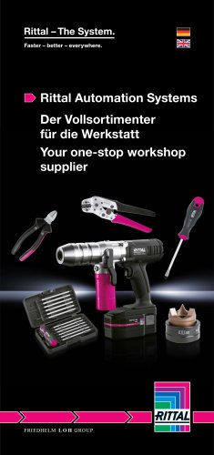 Rittal Automation Systems - Der Vollsortimenter für die Werkstatt / Your one-stop workshop supplier