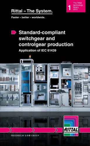 Standard-compliant switchgear and controlgear production